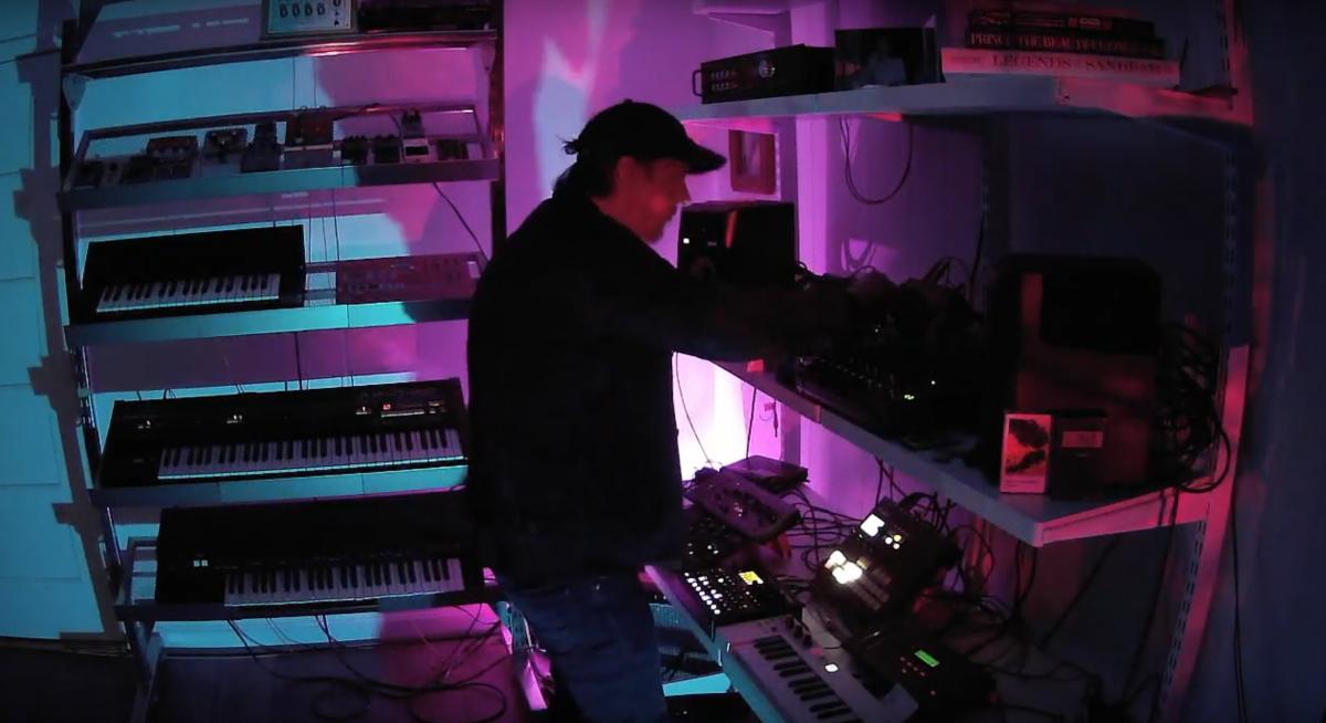 Secret Wilderness performing in studio